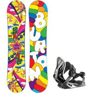 Burton Chicklet Kinder Snowboard 2013 130 cm + Stuf Air Junior 2012 Gr