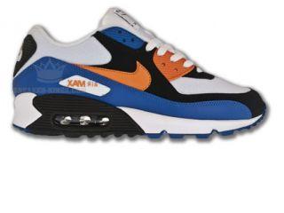 Nike Air Max 90 Blau/Schwarz/Weiss/Orange Neu Größen wählbar