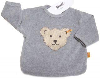 STEIFF Sweatshirt / Shirt Nicki grau Teddy Gr. 62   86 NEU 0002881