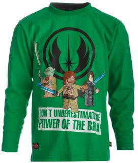 Star Wars Shirt mit Druck TERRY 757 grün Gr. 134 H/W 12/13 NEU