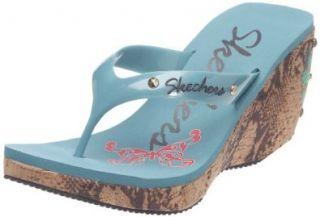 Skechers Flirty Peek A Boo 37895 Damen Sandalen Schuhe