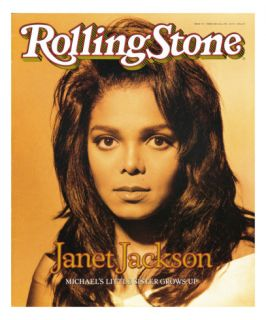 Janet Jackson, Rolling Stone no. 572, February 22, 1990 Photographic Print by Matthew Rolston