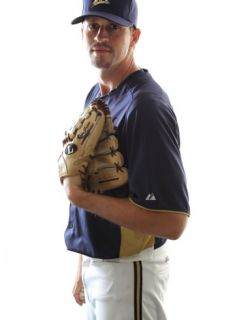 Milwaukee Brewers Photo Day, MARYVALE, AZ   FEBRUARY 24 Sean Green Photographic Print by Jonathan Ferrey