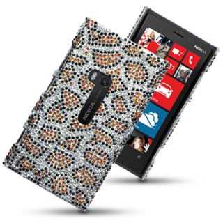DIAMANTE DISCO BLING CASE / BACK COVER FOR NOKIA LUMIA 920   LEOPARD
