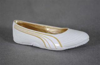 Puma Simplice WP   Damen Leder Ballerinas   Weiß Gold   Gr. 39