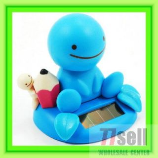 Nohohon Flip Flap Solar Powered Blue Lucky Smile Boy Toy GIFT