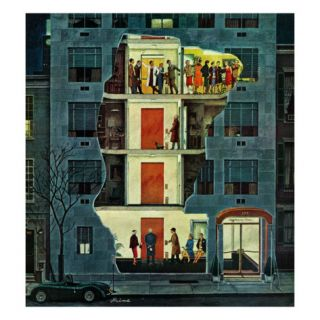 Party Holding Up the Elevator, February 25, 1961 Giclee Print by Ben Kimberly Prins
