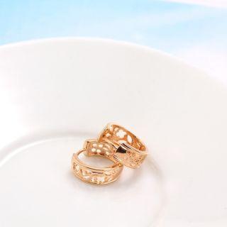 Goldschmuck Schmuck 750/18K Rose Gold vergoldet Creolen Damen Ohrringe