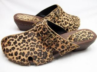 Andres Machado   Clogs im Leoparden Look Schuhe