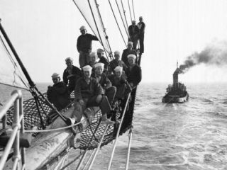 Cadets Aboard the Sorlandet Sailing in the English Channel, June 1952 Photographic Print