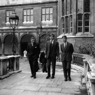 Prince Charles Arrives at Trinity College, Cambridge, 1967 Photographic Print