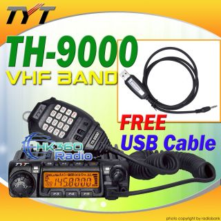 cable 6 008 + TYT TH 9000 VHF 136 174Mhz Mobile Radio