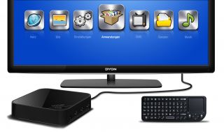 Dyon Premium Edition, Andromeda Smart TV Box mit Touchpad (1GHz