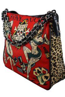 BAG Tattoo ROCKABILLY Chain Shoulder Leopard Sac Bolso TASCHE Stay