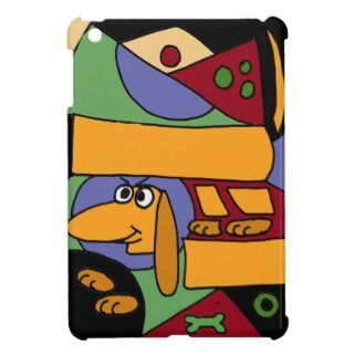 XX  Funny Dachshund Abstract Art iPad Mini Covers