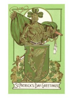 St. Patricks Day, Armor with Green Flag Prints