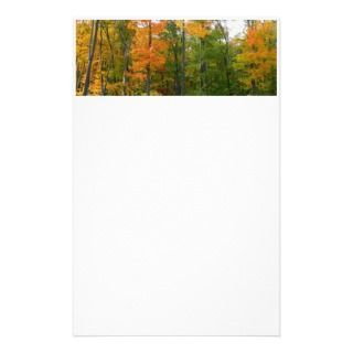 Fall Maple Leaves Stationery