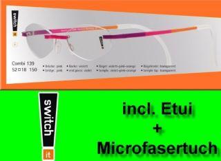 Switch it Combi 139 Wechselbrille Garnitur Eye Glasses violett pink
