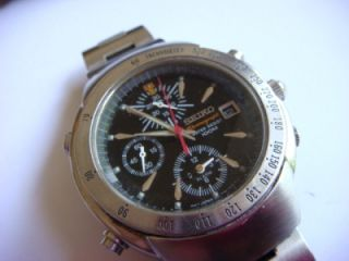 Seiko Quartz chronograph 7T62 0GW0 automatic17 jewels serial Nr 6D2176