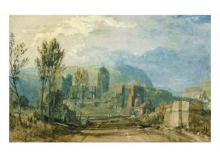 Tours, Sunset: Looking Backwards, C.1826 30 Giclee Print by Joseph Mallord William Turner