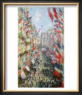 The Rue Montorgueil, Paris, Celebration of June 30, 1878 Prints by Claude Monet