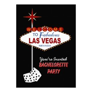 Black Las Vegas Bachelorette Party Invitation