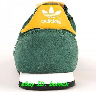 ADIDAS DRAGON Trainers Green Yellow Gold Suede Mesh rom marathon new