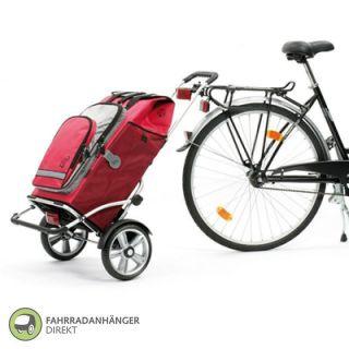Andersen Royal Shopper Plus Fahrradanhaenger Einkaufswagen Trolley rot