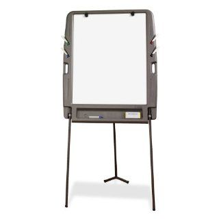 Portable Flipchart Easel w/Dry Erase Surface, Resin, 35w x 30d x 73h