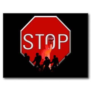 Stop Sign Postcards & Postcard Template Designs