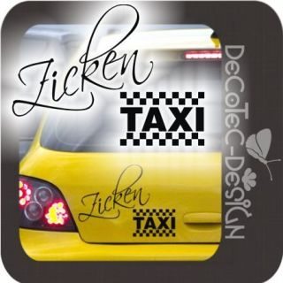 A153 Zicken Taxi Autoaufkleber Zickentaxi Sticker Zicke