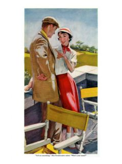 Country Club Affair    Saturday Evening Post Men at the Top, September 18, 1954 pg.30 Giclee Print by Bob Hilbert