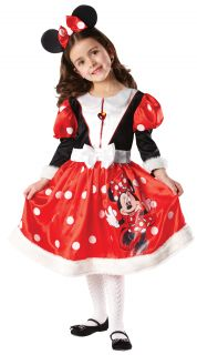 Kinder Mädchen Kostüm Minnie Mouse Winter Wunderland Disney Outfit 3