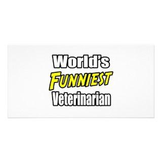 El veterinario más divertido del mundo tarjetas personales con fotos