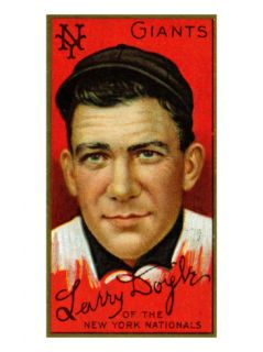 New York City, NY, New York Giants, Lawrence Doyle, Baseball Card Poster