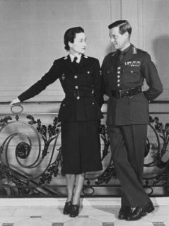 The Duke and Duchess of Windsor Clad in Wartime Uniforms Premium Photographic Print by Boris Paschkoff