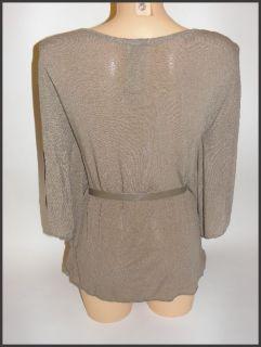 feminine Damen Bluse Shirt Tunika cappuccino Fledermausärmel NEU Gr
