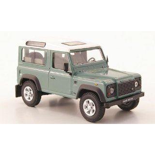Land Rover Defender 90, grau grün/weiss, Modellauto, Fertigmodell