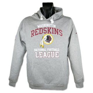 Washington Redskins Majestic Felt Tek Patch Red Hooded Sweatshirt