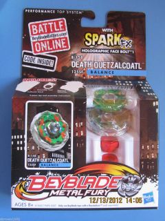 NEW BEYBLADE METAL FURY DEATH QUETZALCOATL B158 ~ HOLOGRAPHIC FACE