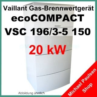 Vaillant ecoCOMPACT VSC 196 /3 5 150 20kW Gas Brennwert