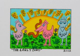 James Rizzi   The Early Bird   Farblithografie   2D
