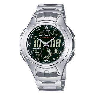 CASIO Uhr AQ 160WD 1BVEF analog   digital wrist watch Weltzeit Casio