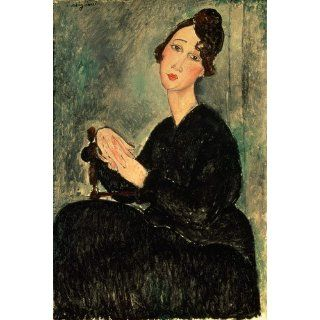 Leinwanddruck (70 x 99, Modigliani) von Portrait of Dedie (Dedicated