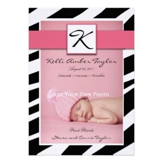 Baby Boy Birth Announcements Jungle Animals