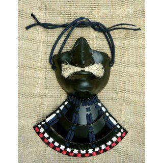 Samurai Maske Menpo Black: Sport & Freizeit
