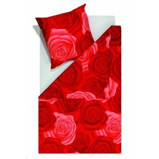 Bettwäsche rote Rosen * 135x200/80x80 * BIG RED ROSES. 100 %