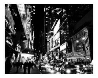 42nd Street Evening   Manhattan, New York City   B&W Photograph Photographic Print by DW labs