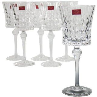 Christal d Arques 15102 Rotweinkelche 25 cl Lady Diamond, 6 er Set