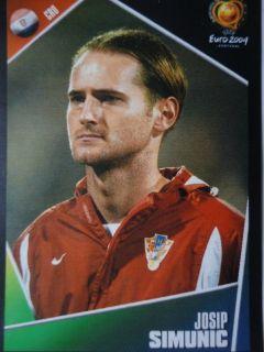 Panini 162 Josip Simunic Croatia UEFA Euro 2004
